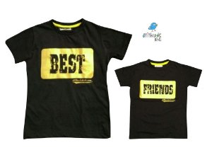 Kit camiseta Best Friends -  Tal pai, tal filho (duas peças)