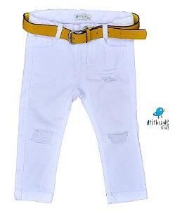 Calça Axel - Branca rasgadinha