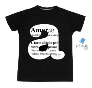 Camiseta Amor - Preta