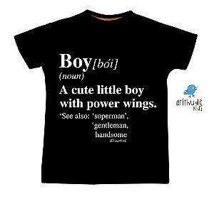 Camiseta - Boy | Preta