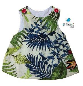 Vestido Maria Flor - Estampado Flores | Linho