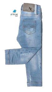 Calça Estevão - Jeans claro rasgadinha