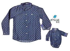 Kit Camisa Austin - Tal pai, tal filho (duas peças)