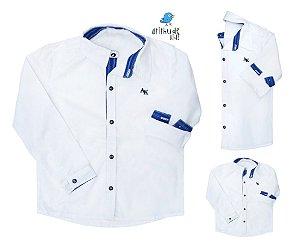 Kit camisa Alcides - Família (três peças) | Azul