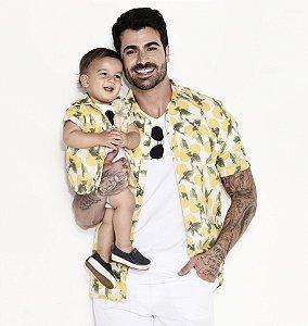 Camisa Ícaro - Adulta | Limão | Viscolinho