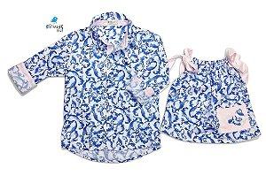 Conjunto estampado - Vestido e Camisa