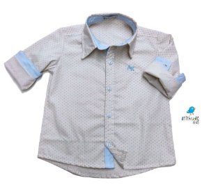 Camisa Alec - Bege Poá