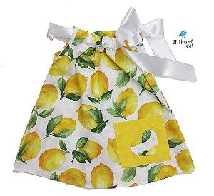Vestido Antonella  - Estampa limão | Com laço