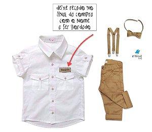 Conjunto Sandro - Safari (4 peças) | Personalizado com nome do bebê