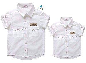 Kit camisa Sandro - Tal pai, tal filho (duas peças) | Safari