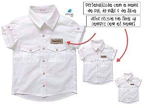 Kit camisa Sandro - Família (três peças) | Manga Curta | Safari