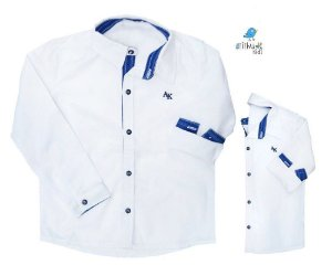 Kit Camisa Alcides - Tal mãe, tal filho  (duas peças) | Azul