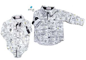 Kit camisa Snoopy - Tal pai, tal filho (duas peças) | Personalize com as inicias dos nomes