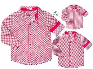 Kit camisa Lelo - Família (três peças) | Manga Longa | Fazendinha