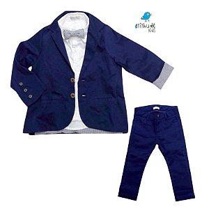 Conjunto Tim  - Azul Marinho | Sarja (Blazer e Calça)