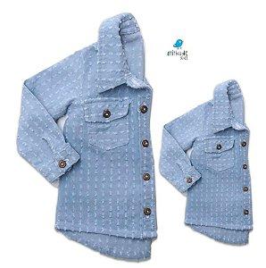 Kit camisa Thierry - Tal pai, tal filho (duas peças) | Jeans Denin