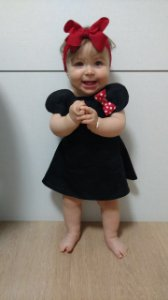 Vestido Minnie - Preto | Mickey
