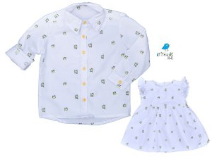 Conjunto Príncipe e Princesa - Vestido e Camisa | Pequeno Príncipe
