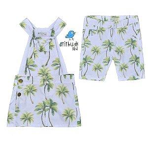 Conjunto Palmeiras - Vestido e Bermuda