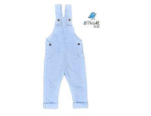 Jardineira Azul Bebê - Sarja