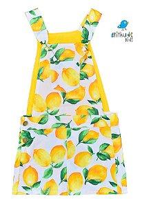 Vestido Jardineira Antonella - Sarja