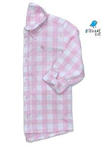 Camisa Cadú - Xadrez Rosa Clara