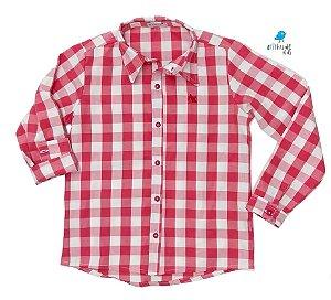 Camisa Cadú - Xadrez Vermelho Claro | Fazendinha