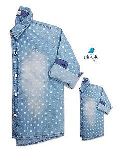 Kit Camisa Mark - Tal mãe, tal filho (a) (duas peças) | Jeans Denin