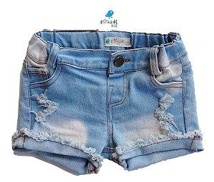 Shorts Juju - Jeans Claro | Feminino | Com elastano