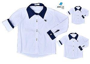 Kit camisa Antony - Família (três peças) |Branca e azul marinho