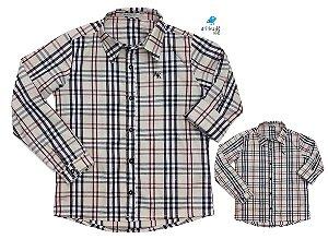 Kit camisa Rafael - Tal pai, tal filho (duas peças)  | Xadrez