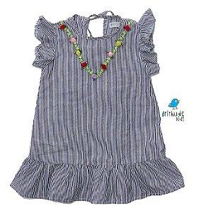Vestido Isa - Listrado Cinza