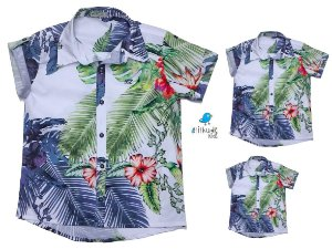 Kit camisa Vicente - Família (três peças) |Folhas