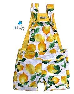 Jardineira Shorts Antonella - Sarja | Estampa Limão