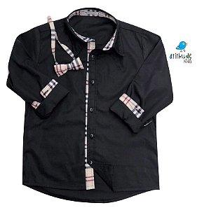 Camisa Christian - Preta (vem com a gravata)