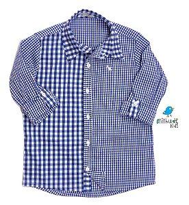 Camisa Cadú - Xadrez Azul Marinho| Fazendinha