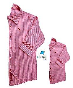 Kit camisa Felipe - Tal pai, tal filho (duas peças)  | Listrada Vermelha