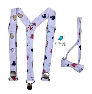 Kit suspensório + gravata borboleta - Mickey