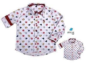 Kit camisa Meu Mickey - Tal pai, tal filho (duas peças) | Personalize com as inicias dos nomes