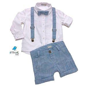 Conjunto Thor - Camisa  e Bermuda  (quatro peças) | Linho