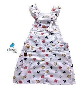 Vestido Jardineira Minnie - Sarja  | Mickey