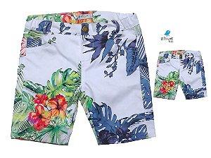 Kit Bermuda Vicente - Pai e filho  | Floral