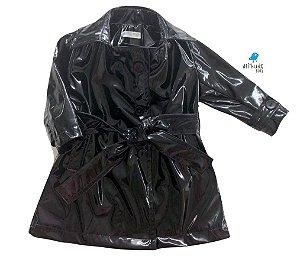 Trench Coat  -  Vinil Preto