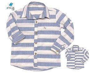 Kit camisa Matheus - Tal pai, tal filho (duas peças) | Linho