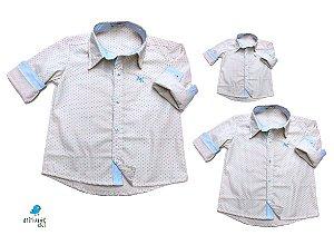 Kit camisa Alec - Família (três peças) |  poá | Manga Longa