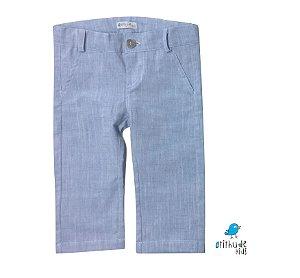Calça de Linho Fausto - Azul Claro