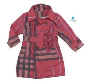 Trench Coat Rafaela - Xadrez Vermelho
