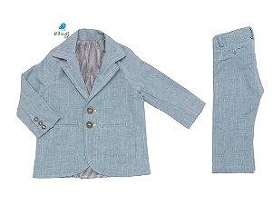 Conjunto Fausto - Linho Azul | Blazer e calça