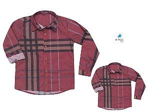 Kit Camisa Rafael - Tal mãe, tal filho  (duas peças) | Xadrez Vermelha
