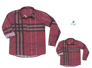 Kit camisa Rafael - Tal pai, tal filho (duas peças) | Xadrez Vermelha